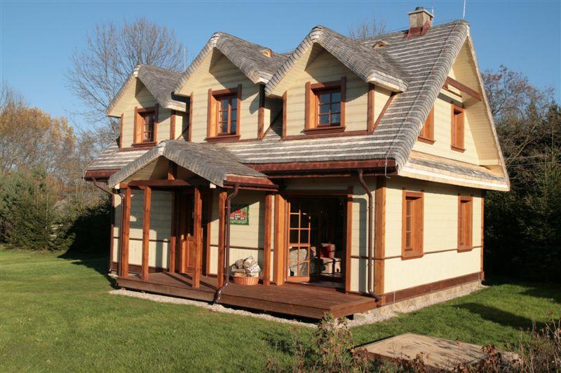 Mniejszy z dwóch domów w Białowieży