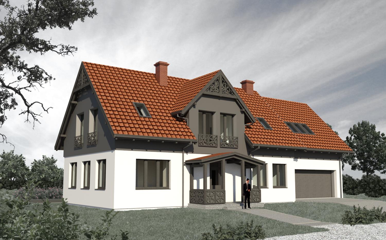 Dom w Nowym Dworze Gdańskim ma charakterystyczne proporcje dla regionalnej zabudowy Żuław.