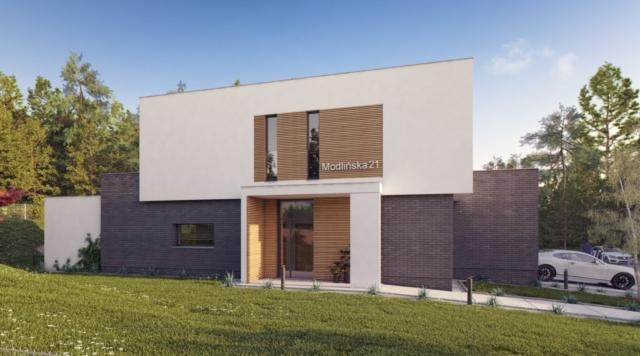 Projekt domu w Gdyni - widok od strony wejścia